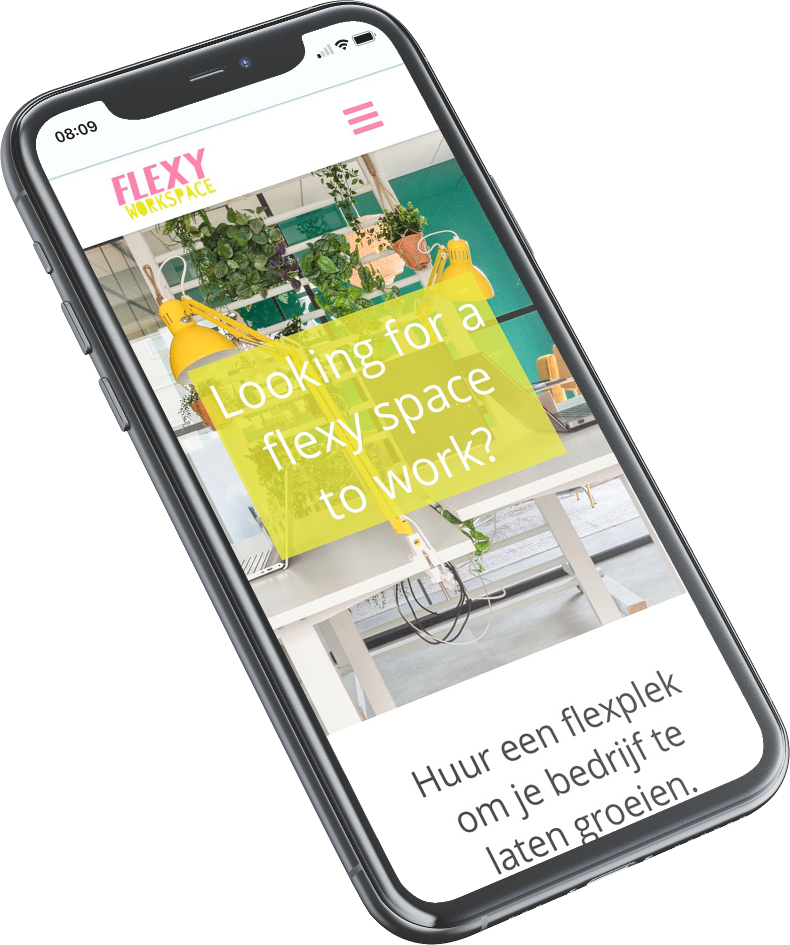 Design Maker | responsive website voor Flexy Workspace