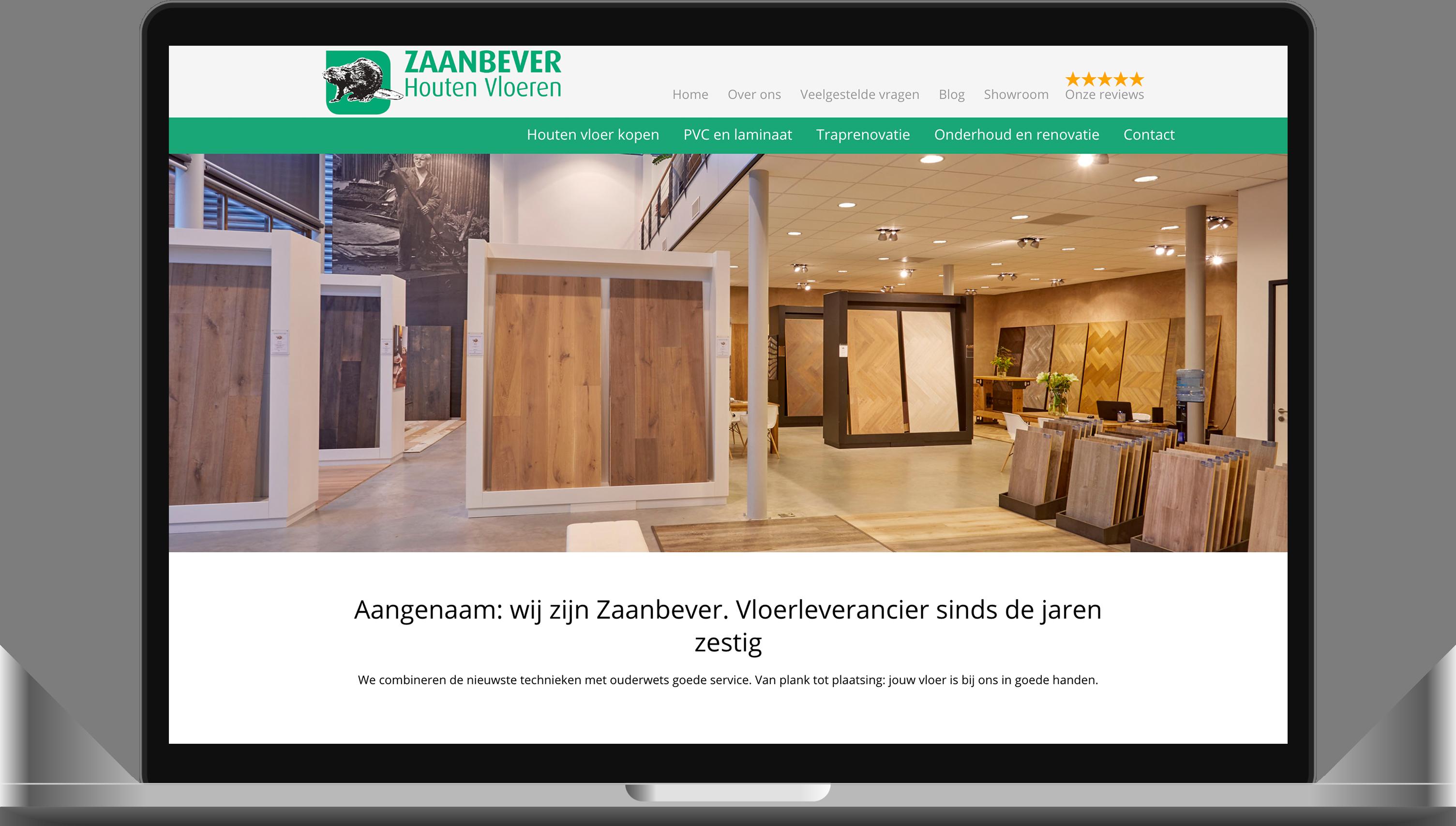 Website gemaakt in maarssen voor Zaanbever