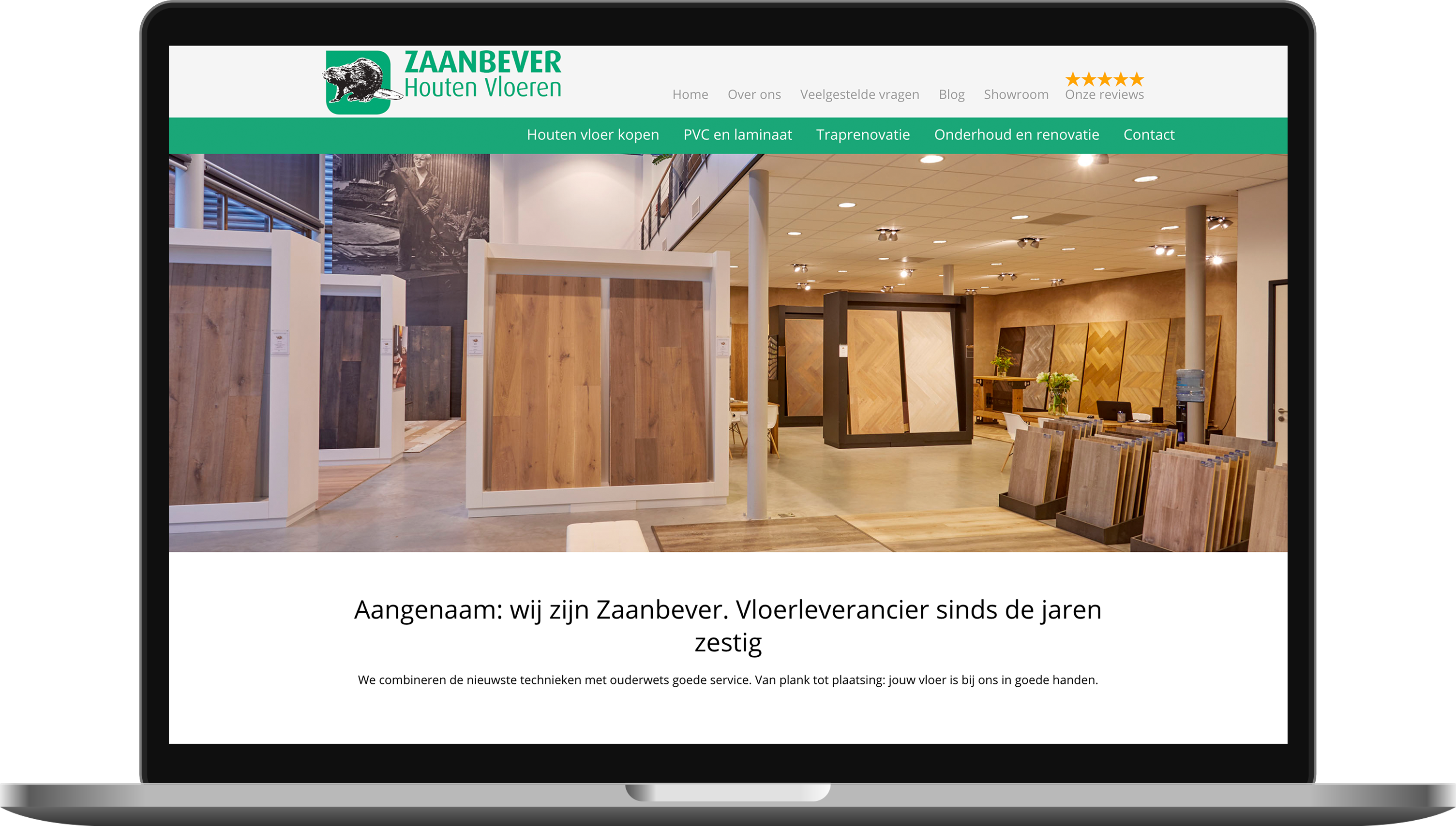 Website gemaakt in utrecht voor Zaanbever