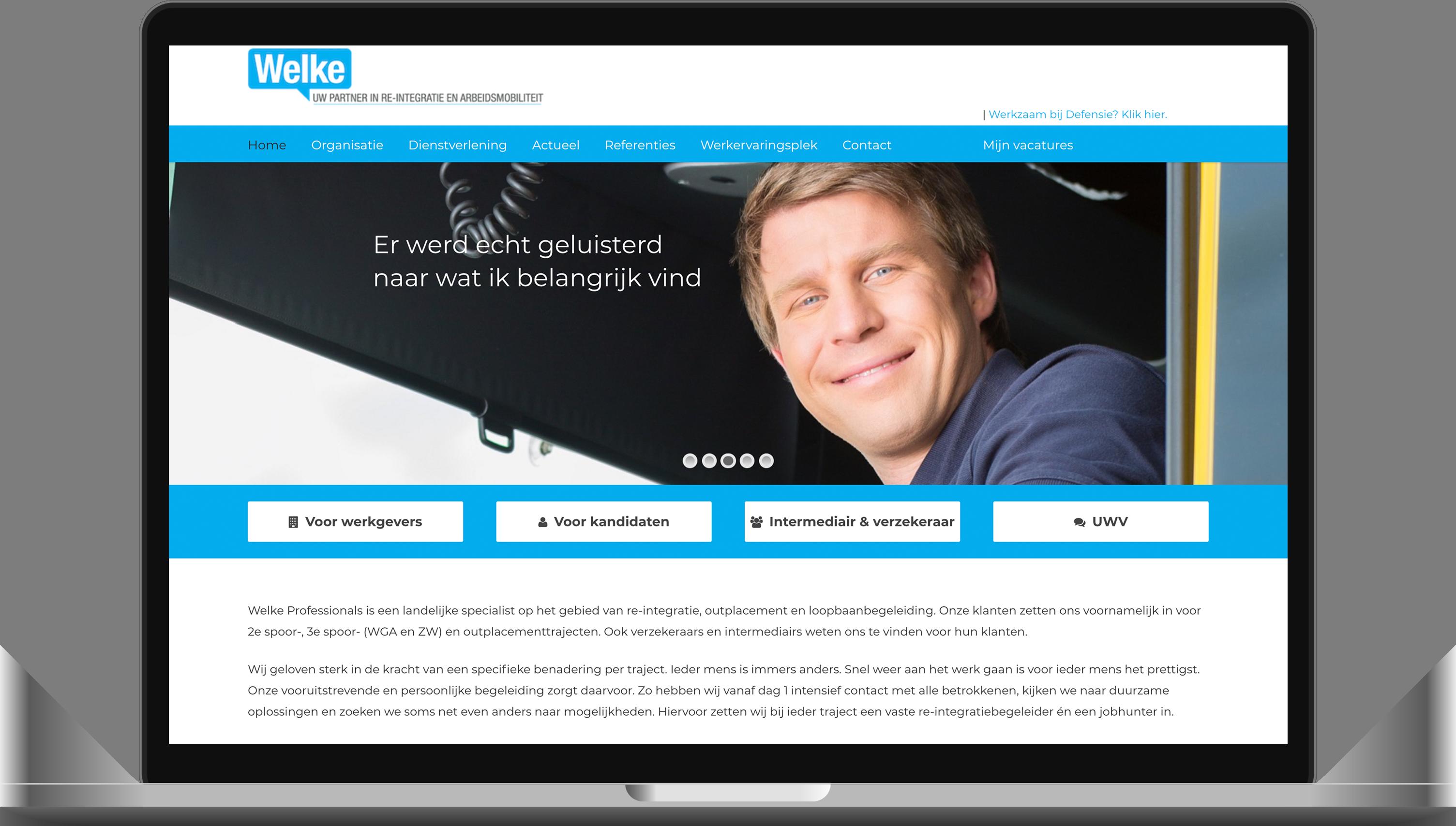 website gemaakt in Huizen voor Welke Professionals